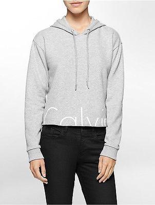 Calvin KleinCalvin Klein Womens Cropped Logo Hoodie