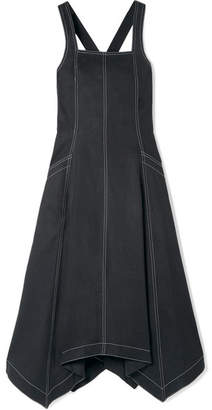 Ulla Johnson Cheyenne Tencel And Cotton-blend Midi Dress - Black