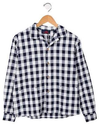 The Animals Observatory Boys' Gingham Button-Up Shirt w/ Tags