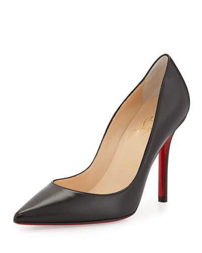 Christian Louboutin  Christian Louboutin Apostrophy Pointed Red-Sole Pump, Black