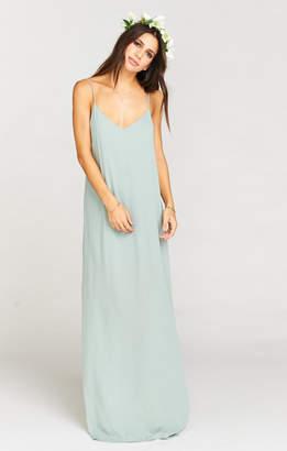 Show Me Your Mumu Jolie Maxi Dress ~ Silver Sage Crisp