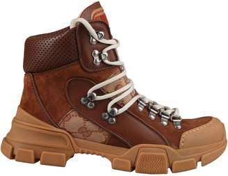 Gucci Logo Hiking Boots
