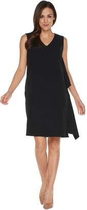 Linea By Louis Dell'olio by Louis Dell'Olio Petite Sleeveless Dress w/Cascade