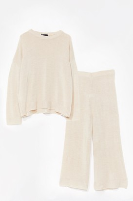 Nasty Gal You've Met Your Match Knitted Jumper and Trousers