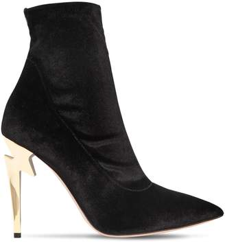 Giuseppe Zanotti Design 105mm Stretch Velvet Ankle Boots