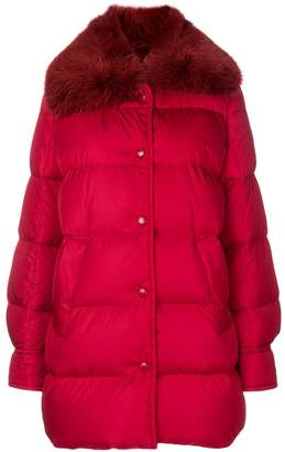 Moncler fur-trimmed padded jacket