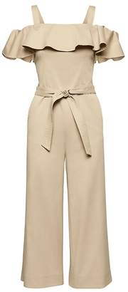 Banana Republic Twill Off-the-Shoulder Cropped Jumpsuit