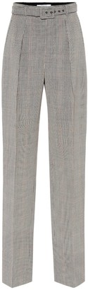 Givenchy Belted plaid wool pants