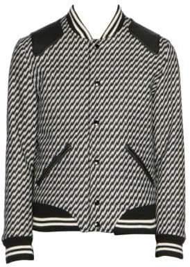 Saint Laurent Striped Bomber Jacket