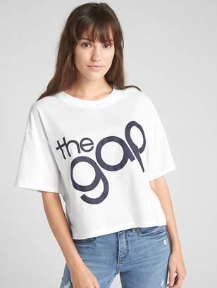 Gap Logo Crop Short Sleeve Crewneck T-Shirt