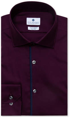 Ryan Seacrest Distinction Men's Evening Collection Ultimate Slim-Fit Non-Iron Performance Stretch Solid Dress Shirt