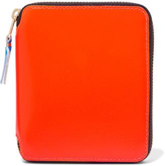 Comme des Garçons - Super Fluo Neon Leather Wallet - Orange $205 thestylecure.com