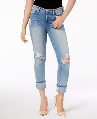 Flying Monkey Ripped Cropped Straight-Leg Jeans