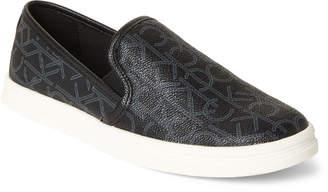 Calvin Klein Black Marren Logo Slip-On Sneakers