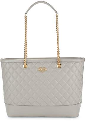 Love Moschino Quilted Faux-Leather Chain Tote