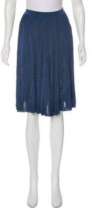 Nina Ricci Pleated Knee-Length Skirt w/ Tags