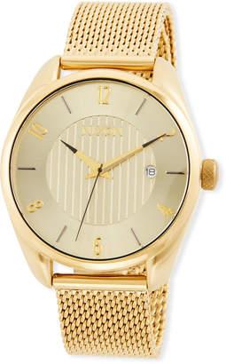 Nixon 38mm Bullet Bracelet Watch, Golden
