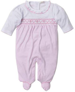 Kissy Kissy Fall Medley Pima Smocked Footie Playsuit, Size Newborn-6 Months
