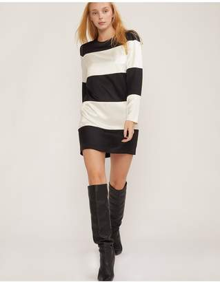Cynthia Rowley Brooklyn Striped Long Sleeve Shift Dress