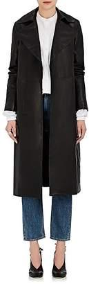 Robert Rodriguez Women's Leather Wrap Trench Coat
