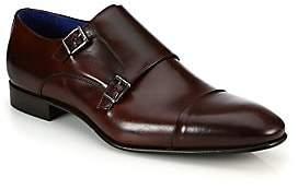 Saks Fifth Avenue Men's COLLECTION Double Monk-Strap Leather Shoes