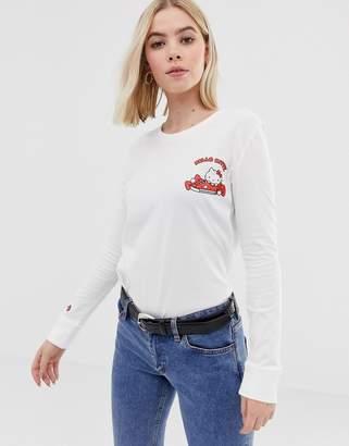 Converse x Hello Kitty white back print long sleeve t-shirt