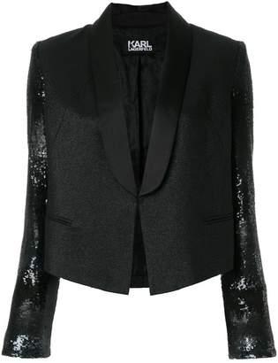 Karl Lagerfeld cropped tuxedo blazer
