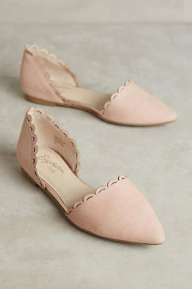 Anthropologie Seychelles Research Scalloped Flats $88 thestylecure.com