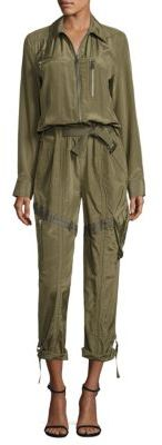 Polo Ralph Lauren Silk and Cotton Jumpsuit $398 thestylecure.com