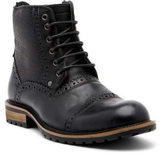 Steve Madden Settler Cap Toe Leather Boot