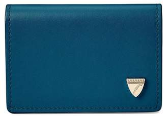 Aspinal of London Accordion Zipped Credit Card Holder In Smooth Topaz