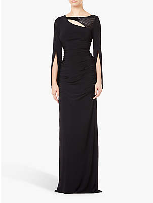 Adrianna Papell Petite Long Dress, Black