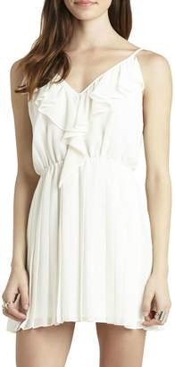 BCBGeneration Ruffle Pleated Flounce Dress