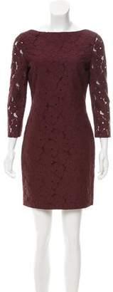 Diane von Furstenberg Lace Long Sleeve Dress