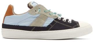 Spliced Knot Laces Canvas Trainers - Mens - Blue Multi