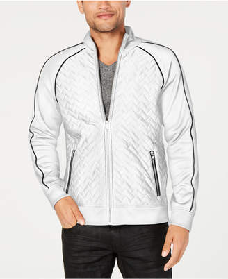 INC International Concepts I.n.c. Men's Quilted Piped Jacket