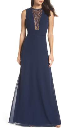Paige Hayley Occasions Lace Inset Chiffon Gown