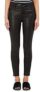 L'Agence Women's Adelaide Leather Skinny Pants - Noir