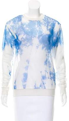 Alexander Wang Mesh Abstract Printed Sweatshirt