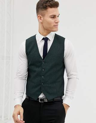 Selected Skinny Vest In Forest Green