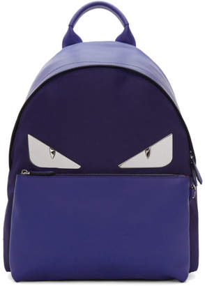 Fendi Blue Bag Bugs Backpack