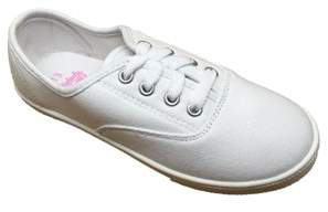 Faded Glory Girls' Lace Up Canvas Casual Shoe
