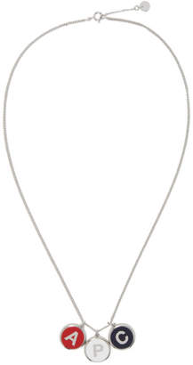 A.P.C. Silver Initials Necklace