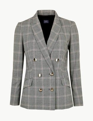 Marks and Spencer Checked Double Breasted Blazer
