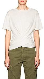NSF Women's Frances Cotton Wrap T-Shirt - White