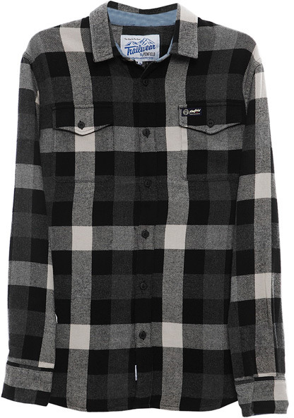 Penfield Chatham Buffalo Plaid Flannel Shirt in Grey