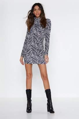 Nasty Gal Out of Print Mini Dress