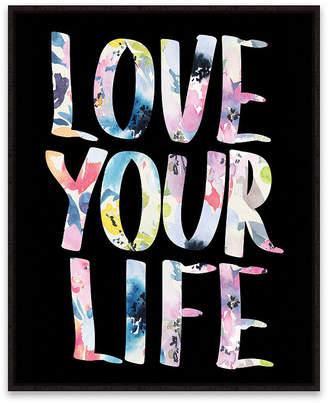 Love Your Life Framed Printed Canvas