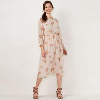 Lauren Conrad Women's Floral Smocked Midi Dress