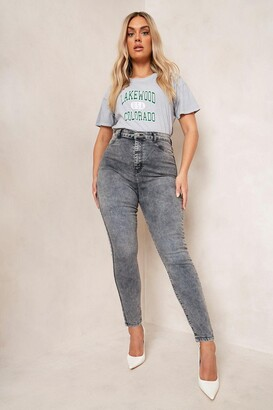 boohoo Plus Acid Wash Jegging